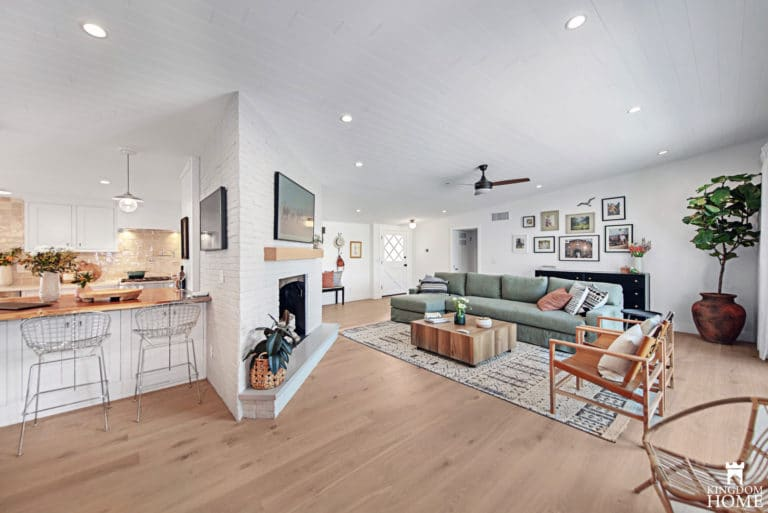 living room, Property Brothers Renovated Home in Las Vegas