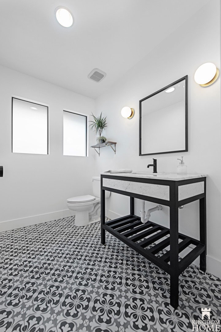 bathroom, Property Brothers Renovated Home in Las Vegas