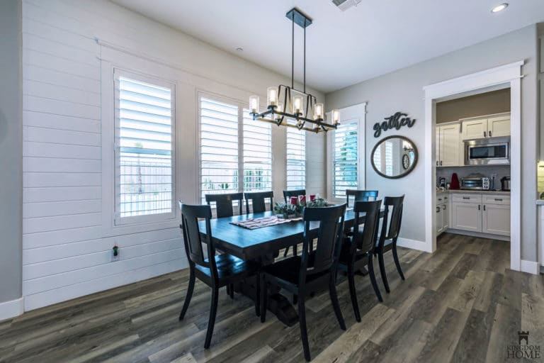 dining room, renovated home in Las Vegas
