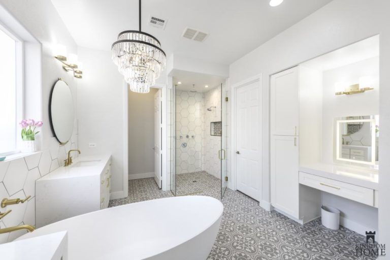 master bathroom in upgraded house