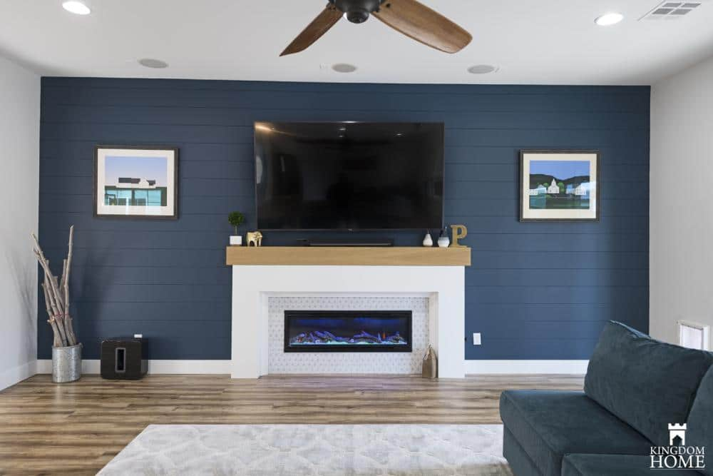 Blue shiplap in Upgraded house