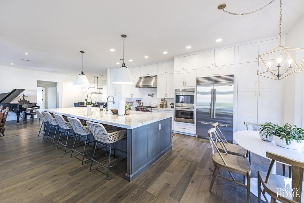 renovated home with white kitchen