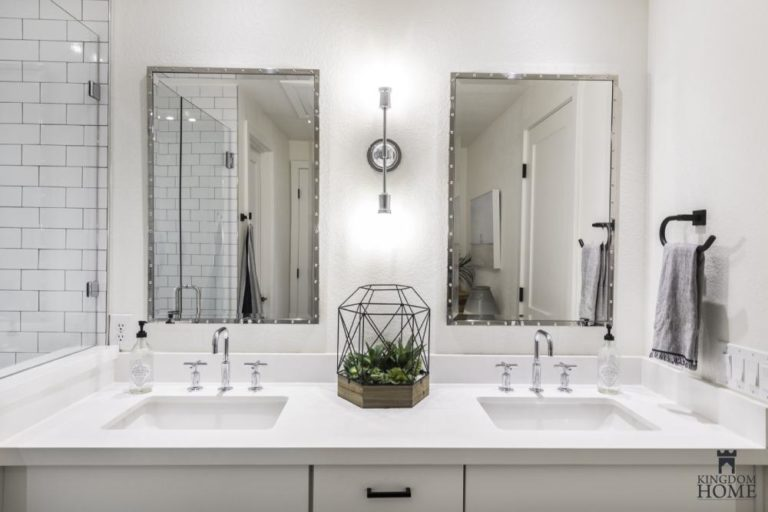 renovated home with white bathroom