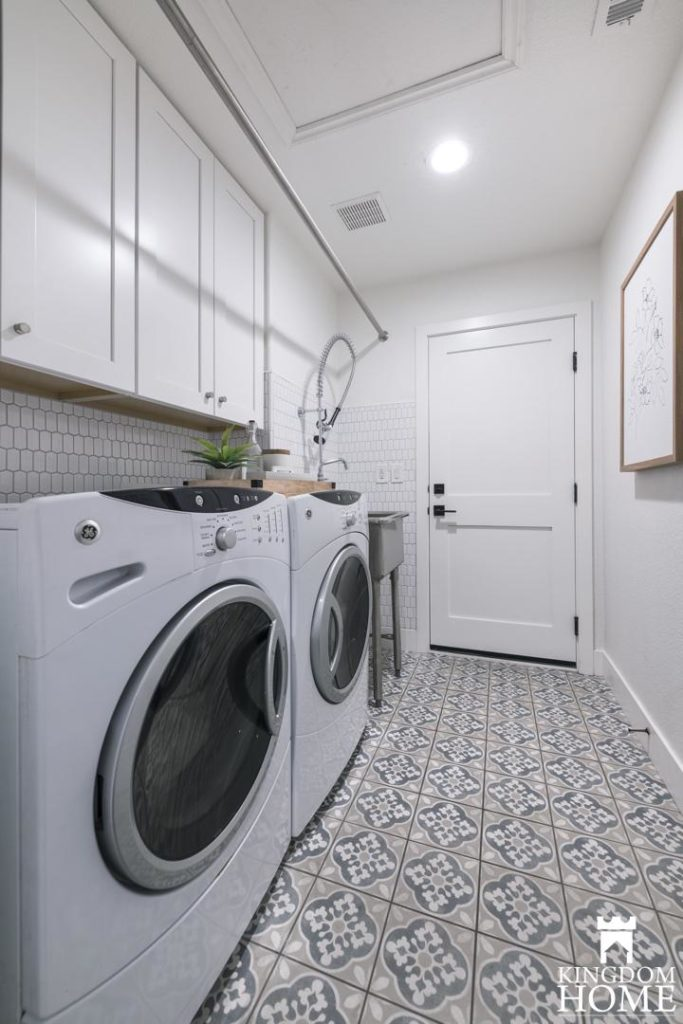 tiled flooring in renovated home