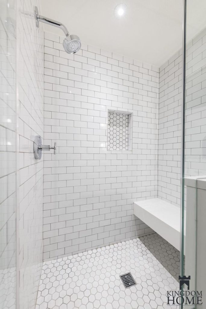 renovated home with tiled shower