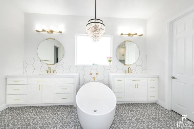 freestanding tub in upgraded house
