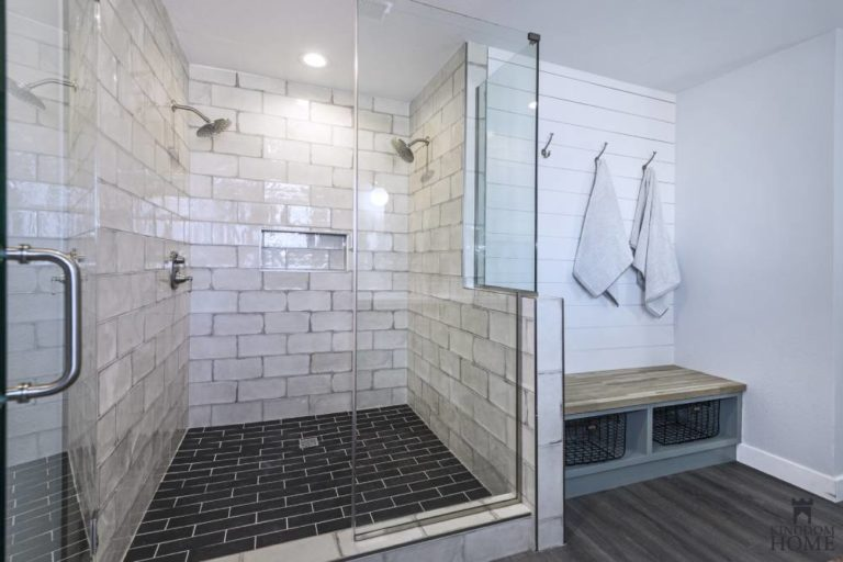 walk-in shower with mudroom, remodeled home in Las Vegas