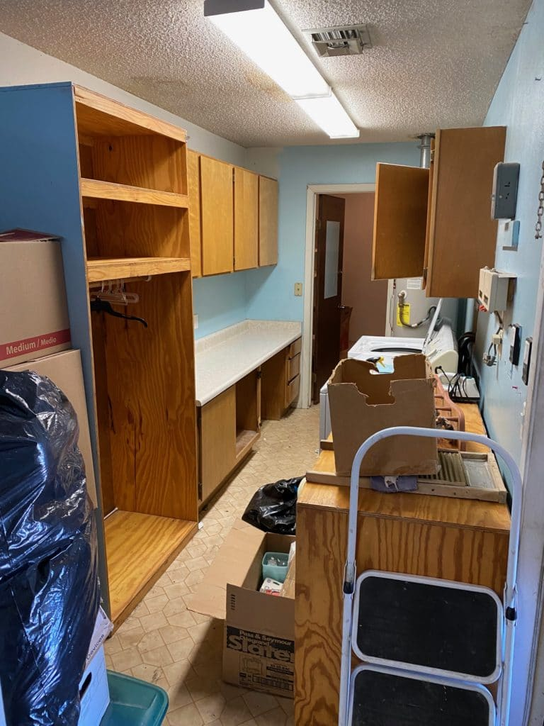 outdated laundry room