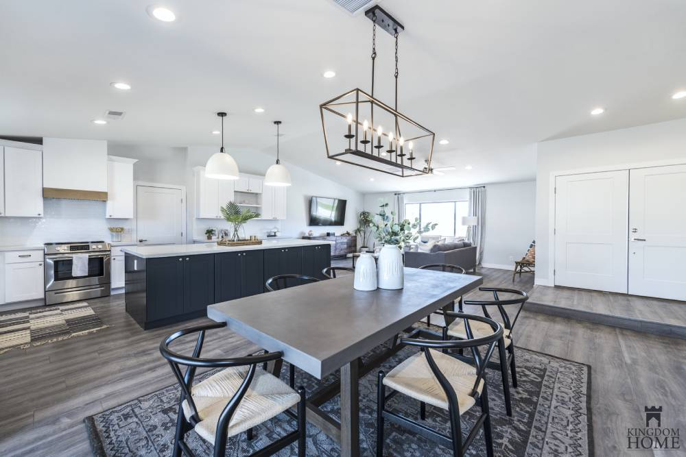 dining room and kitchen, remodeled home in Las Vegas